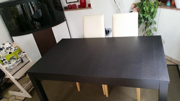 esstisch ikea bjursta schwarzbraun. Black Bedroom Furniture Sets. Home Design Ideas