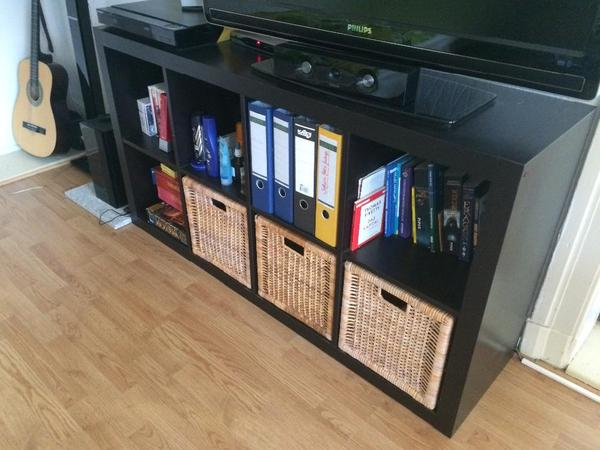 ikea expedit kallax 2x4 mit 3 k rben in berlin regale kaufen und verkaufen ber private. Black Bedroom Furniture Sets. Home Design Ideas