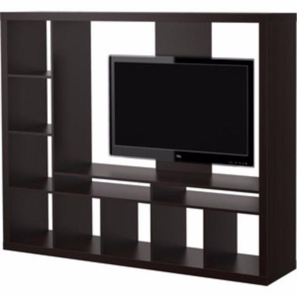 wir verkaufen hier unsere ikea expedit tv wand vorheriges modell farbe schwarz braun guter. Black Bedroom Furniture Sets. Home Design Ideas