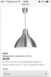 ikea lampe aluminium haushalt m bel gebraucht und. Black Bedroom Furniture Sets. Home Design Ideas