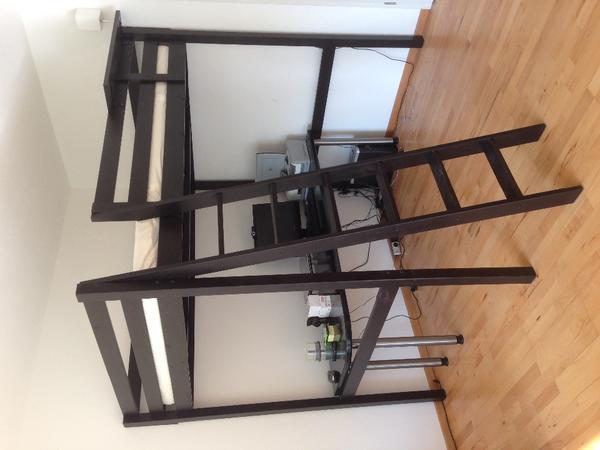 Ikea Hochbett Fjelldal Neupreis ~ IKEA Hochbett Stora dunkelbraun inkl hochwertiger Matratze in