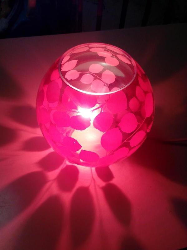 Ikea knubbig tischleuchte rot 18cm h he inkl halogen for Gebrauchte lampen