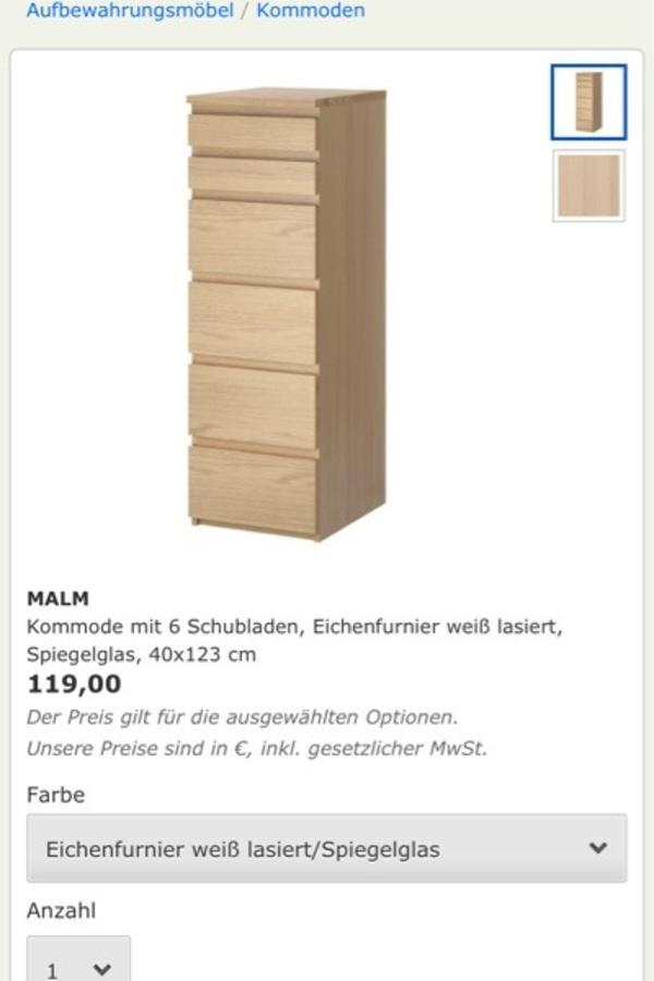ikea kommode mit sch nem schminkspiegel in bochum ikea m bel kaufen und verkaufen ber private. Black Bedroom Furniture Sets. Home Design Ideas