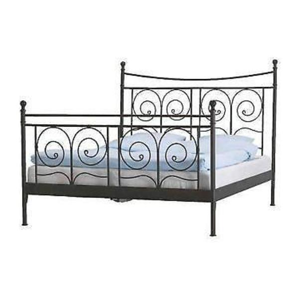 ikea metallbett 140x200 noresund mit lattenrost in. Black Bedroom Furniture Sets. Home Design Ideas