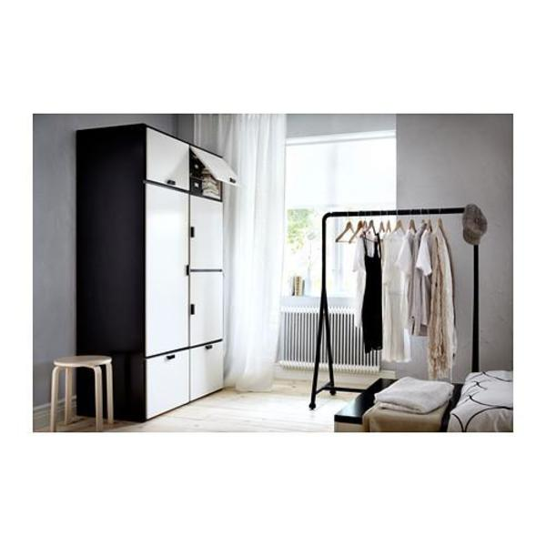 ikea kleiderschrank schwarz wei. Black Bedroom Furniture Sets. Home Design Ideas