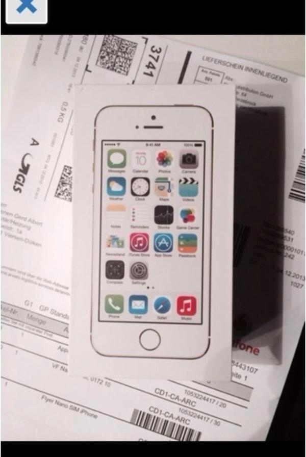 iphone 5s gold neu in w lfrath apple iphone kaufen und. Black Bedroom Furniture Sets. Home Design Ideas