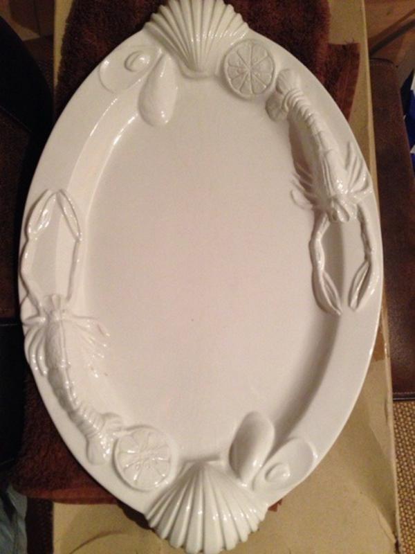 keramik platte aus italien f r meeresfr chte in bruckm hl geschirr und besteck kaufen und. Black Bedroom Furniture Sets. Home Design Ideas