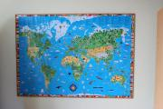 Kinderweltkarte mit Holz-