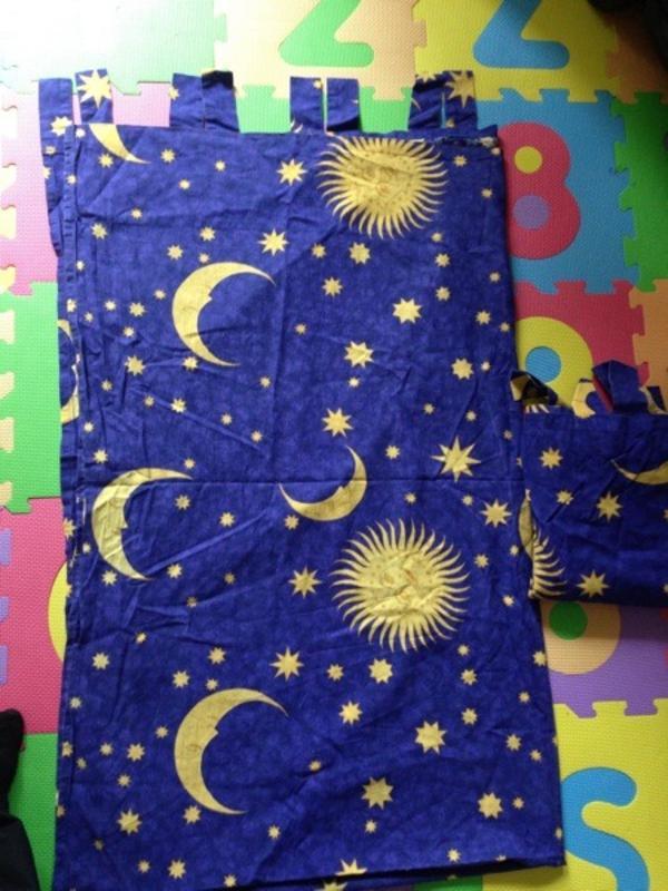 Vorhang Kinderzimmer Sterne : Kinderzimmervorhang 2 Stück Sonne Mond und Sterne Super Zustand Mit
