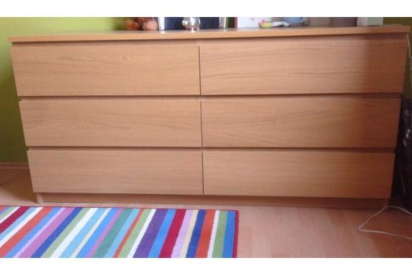 kommode malm eiche mit 6 schubladen sehr gut erhalten 1 jahr alt in m nchen schr nke. Black Bedroom Furniture Sets. Home Design Ideas