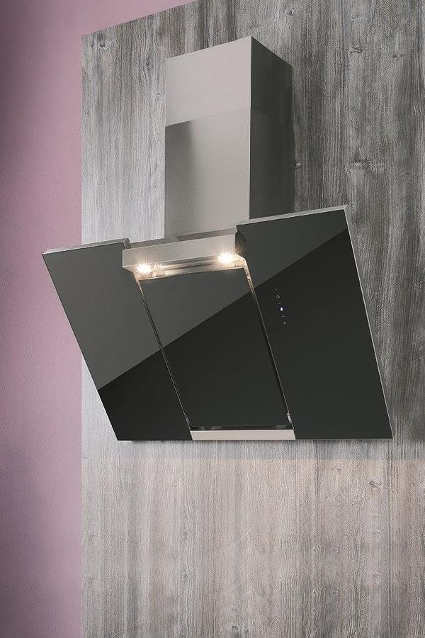 neue noch nie montierte dunstabzugshaube mit schwarzer glasfront inklusive fernbedienung zu. Black Bedroom Furniture Sets. Home Design Ideas
