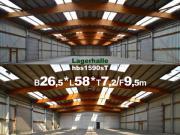 Lagerhalle 26x58x9m Stahl-