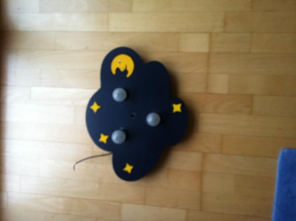lampe kinderzimmer mond und sterne holz blau deckenlampe in bischweier lampen kaufen und. Black Bedroom Furniture Sets. Home Design Ideas