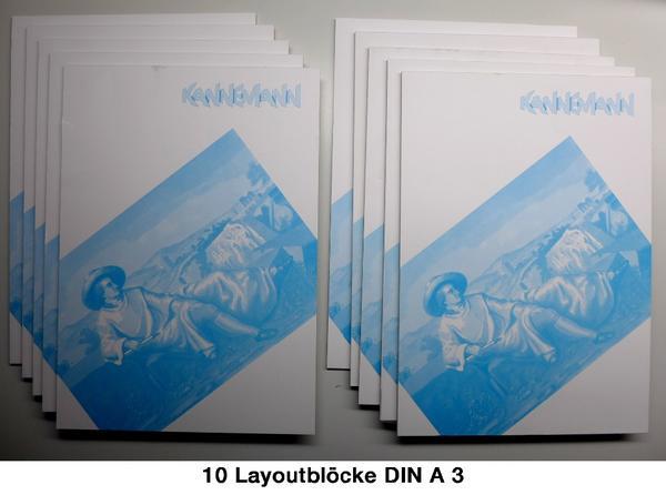Gebraucht, Layout-Zeichenblöcke DIN A3 (42 x 29,7 cm) gebraucht kaufen  61462 Königstein
