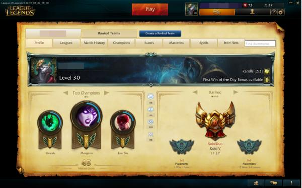 league of legends gold 5 account 50 skinns 97 champions silberrahmen 56 summoner icons in. Black Bedroom Furniture Sets. Home Design Ideas