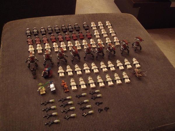 lego star wars figuren sammlung 68 stueck z t mit waffen. Black Bedroom Furniture Sets. Home Design Ideas