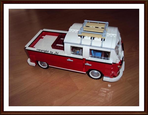 lego vw t1 bus 10220 umbau anleitung doppelkabine in. Black Bedroom Furniture Sets. Home Design Ideas