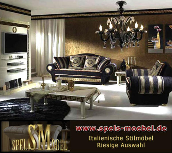 luxus m bel sofa sessel polsterm bel wohnzimmer royale moonlight italienische klassische. Black Bedroom Furniture Sets. Home Design Ideas
