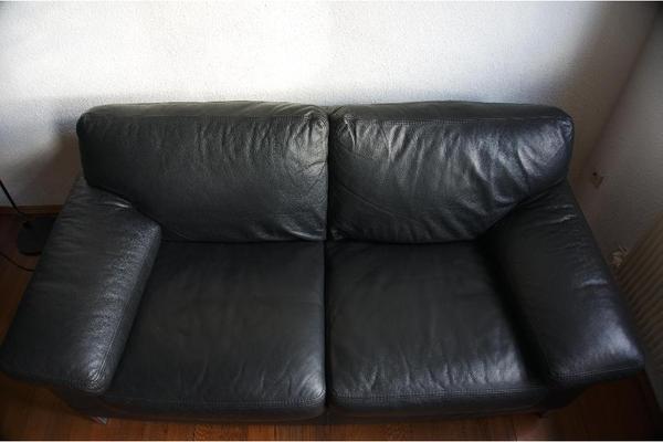 machalke design sofa diego schwarzes echt leder in reutlingen designerm bel klassiker. Black Bedroom Furniture Sets. Home Design Ideas