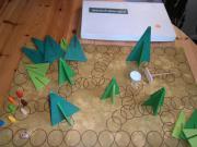 Märchenhaftes Waldschattenspiel für