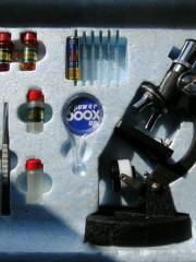 Microscope Set, 600fache