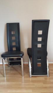 Moderne Esszimmerstühle, schwarzes