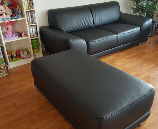 Moderne hochkomfortable Couch Sitzgruppe zweiteilig Kunstleder ...