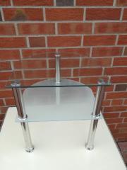 Nachttisch aus Glas (