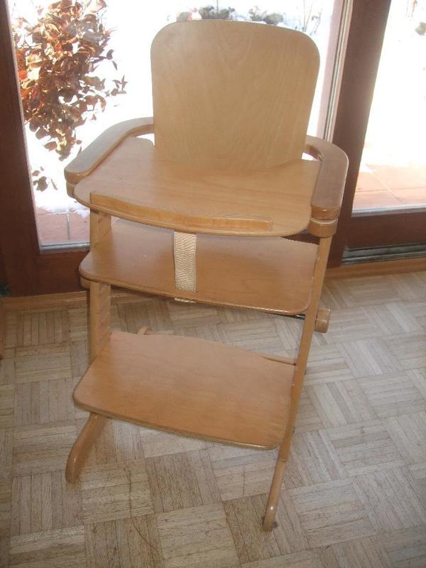 natur holz hochstuhl mitwachsend mit abnehmbarem tisch. Black Bedroom Furniture Sets. Home Design Ideas