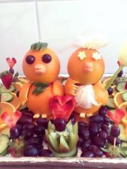 Obstdekoration für besondere