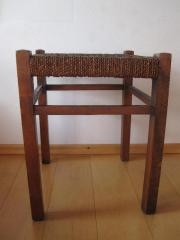 Original alter Holzhocker,