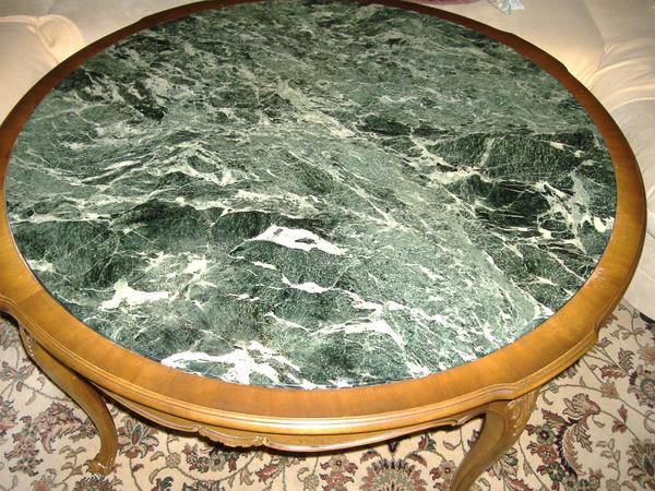 Marmor rund kaufen gebraucht und g nstig for Tisch mit marmorplatte gebraucht