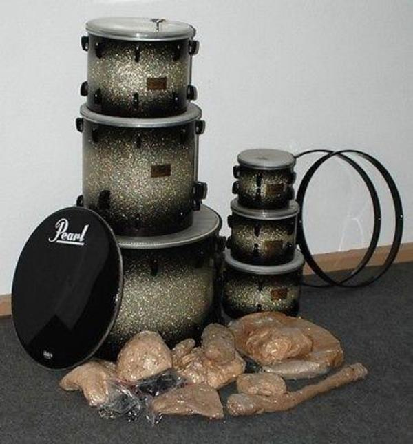 pearl masters studio brx 6 drums set farbe dimond burst rare in duisburg drums percussion. Black Bedroom Furniture Sets. Home Design Ideas