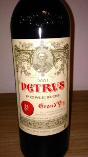 Petrus 2001, Bordeaux,