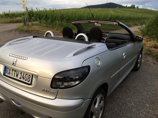 peugeot 206 cc quicksilver in h gelsheim peugeot cabrio. Black Bedroom Furniture Sets. Home Design Ideas