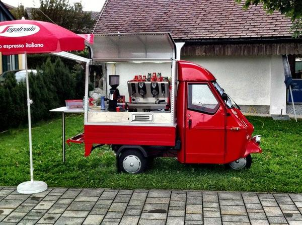 piaggio ape 50 mobile espressobar in salzburg piaggio. Black Bedroom Furniture Sets. Home Design Ideas