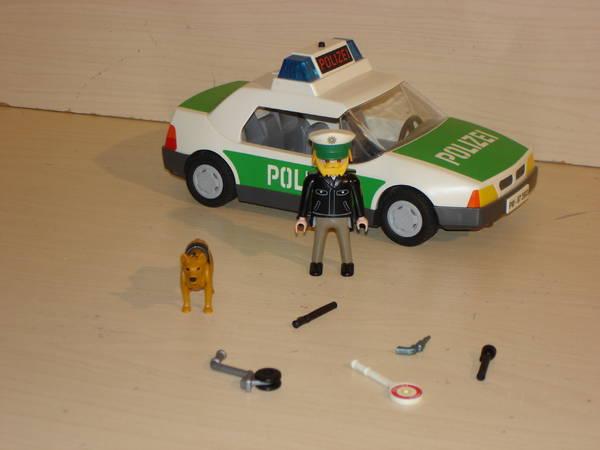 playmobil polizei streifenwagen mit viel zubehör  wenig