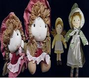 Puppen aus Stoff