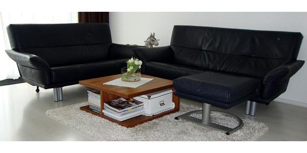 rolf benz bmp leder sofa garnitur 3 tlg 3 sitzer 2 sitzer. Black Bedroom Furniture Sets. Home Design Ideas
