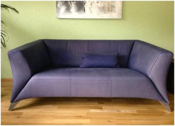 rolf benz sofa 322 kombination 3er leder und 2er stoff in eltville designerm bel klassiker. Black Bedroom Furniture Sets. Home Design Ideas