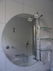 Runder Badezimmerspiegel mit