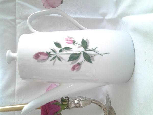 schirnding bavaria antike kaffeekanne 39 rosa rose 39 top zustand in b nnigheim glas porzellan. Black Bedroom Furniture Sets. Home Design Ideas