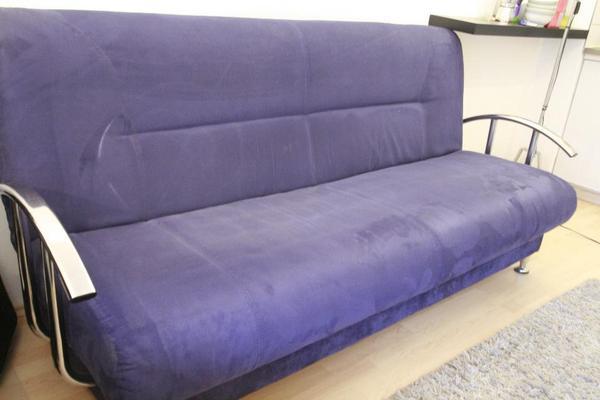 schlafsofa ausklappbar blau in m nchen polster. Black Bedroom Furniture Sets. Home Design Ideas