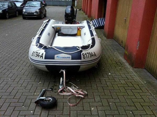 schlauchboot viamare 380 alu mit parsun 15 ps in stendal. Black Bedroom Furniture Sets. Home Design Ideas