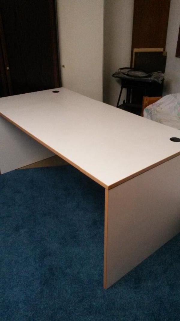 schreibtisch weiss kaufen gebraucht und g nstig. Black Bedroom Furniture Sets. Home Design Ideas