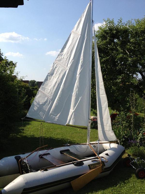 sevymarine sv10 schlauchboot mit au enborder segel viel. Black Bedroom Furniture Sets. Home Design Ideas