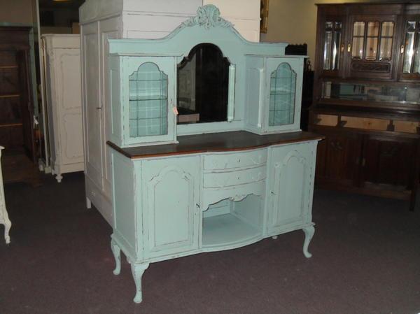 shabby chic k che buffet farbe antik gr n in brunssum sonstige m bel antiquarisch kaufen und. Black Bedroom Furniture Sets. Home Design Ideas