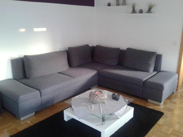 sofa ecksofa grau. Black Bedroom Furniture Sets. Home Design Ideas