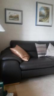 Sofa Leder dunkelbraun -