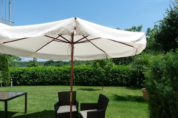 sonnenschirm stern hartholz 3m lsf 50 mit teflon. Black Bedroom Furniture Sets. Home Design Ideas